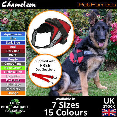 Non-Pull Dog Harness Vest Soft Padded Breathable Adjustable 7 Sizes -9 Colours