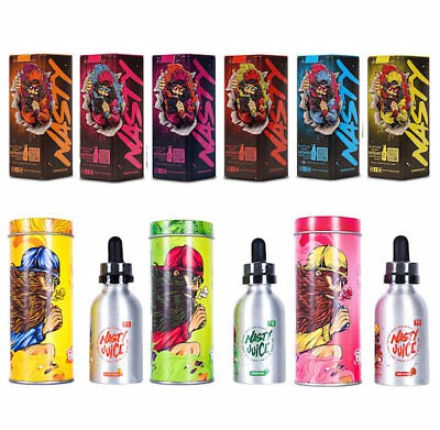 Genuine Nasty Juice - 50ml Shortfill 0mg E-Liquid 1 FREE NIC SHOT - All Flavours