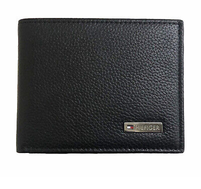 Tommy Hilfiger Leather Black Wallet Black Coin Gift Box FREE P&P