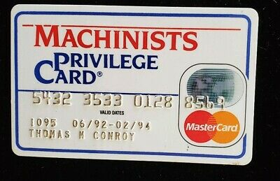 Machinists Privilege MasterCard Charge Card exp 94♡Free Shipping♡cc175