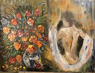 Leonid Afremov Abstract Large Oil Painting On Canvas Size 62 X 80cm  '