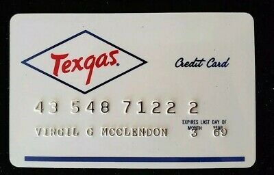 Texgas Credit Card exp 69♡Free Shipping♡cc179