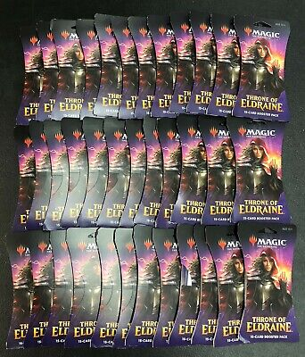 Magic Throne of Eldraine lot of 36 Sealed Carded Blister Packs = Booster Box