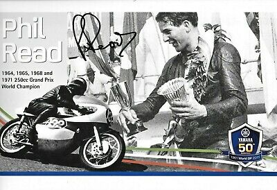 Phil Read SIGNED  12x8 , Yamaha 50th Anniverary 1961 2011  Photo Montage