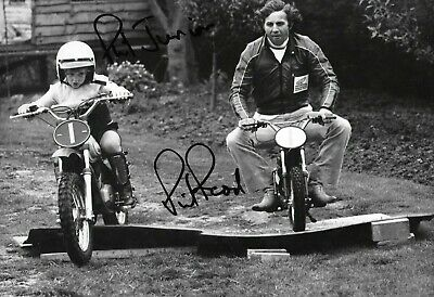Phil Read SIGNED  12x8 Portrait  with son Phil Jnr 1977