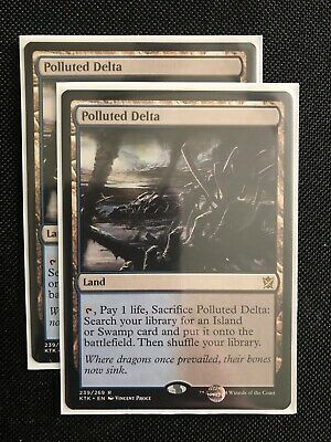MTG KHANS OF TARKIR CHINESE POLLUTED DELTA X1 MINT CARD