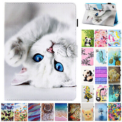 "For iPad 10.2"" 7th Gen 2019 Flip Patterned Smart Case Leather Wallet Stand Cover"