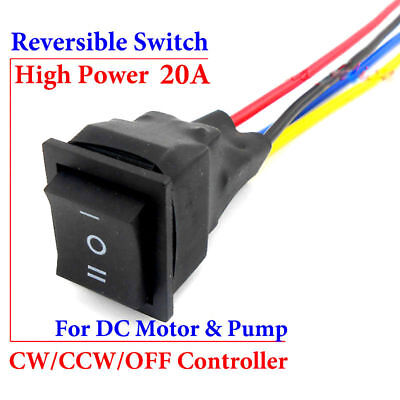 20A DC Motor Pump CW CCW Reversible Switch Direction Three-way Button Controller