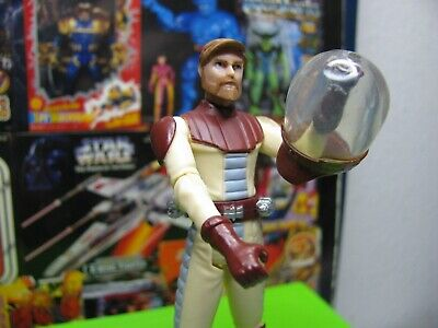 "2009 Loose Star Wars Figure 3 3/4"" Obi-Wan Kenobi In Space Suit Clone Wars"