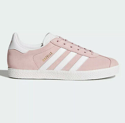 Sale Brand New Womens / Kids Adidas Gazelle Trainers Pink White Size 5.5 Uk
