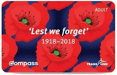 Vancouver Commemorative Compass Card for Adult - 100th Remembrance Day