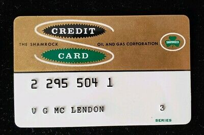 The Shamrock Oil & Gas Corporation Credit Card Exp 1960's♡Free Shipping♡cc202♡