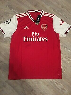 BNWT 19/20 Arsenal Home Shirt Premier League Patch Men's Size Large / HUSSIAN 14