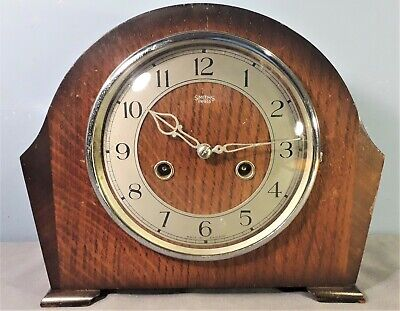 Vintage Smiths Enfield Art Deco Style Striking Mantel Clock