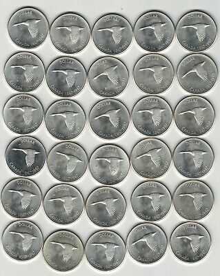 Canada 1967 Silver Dollar $1 with Goose Centennial Lot of 30 Pieces! Nice Cond.