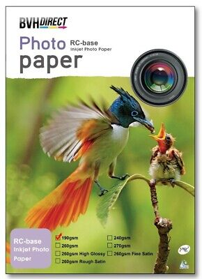 A4 Premium Photo Paper 100% Waterproof RC High Gloss 190 Gsm -20 sheets