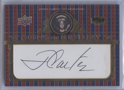 Jimmy Carter 2008 Upper Deck Signs Of History President Cut Auto /49