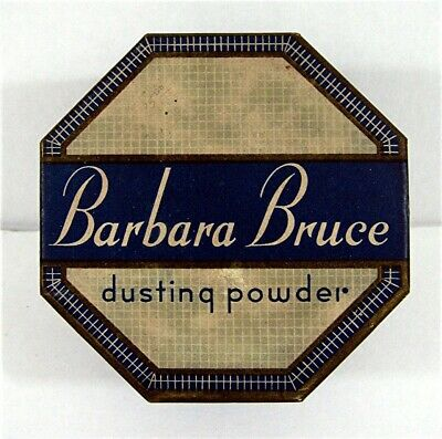 Old Barbara Bruce Dusting Powder Box Old Unsold Store Stock