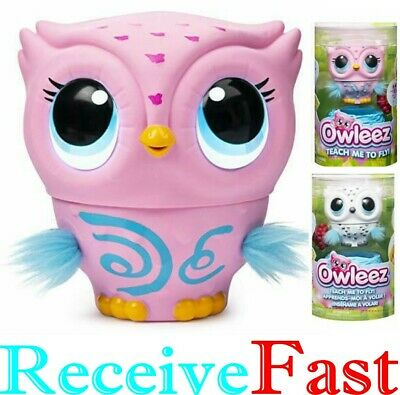 Owleez Flying Baby Owl Interactive Toy Pink or White