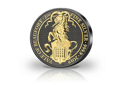 The Queens Beasts Series 2 oz Silver 2019 United Kingdom Yale with Ruthenium U
