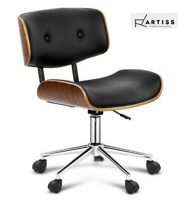 RETURNs Artiss Office Chair Computer Chairs Executive Wooden Bentwood Leather Se