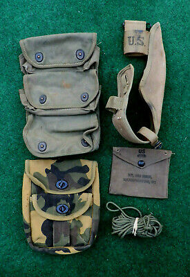 Military Lot WW2, WWII US Army Grenade Ammo Pouch M1 Kit Pouch Sheath & More