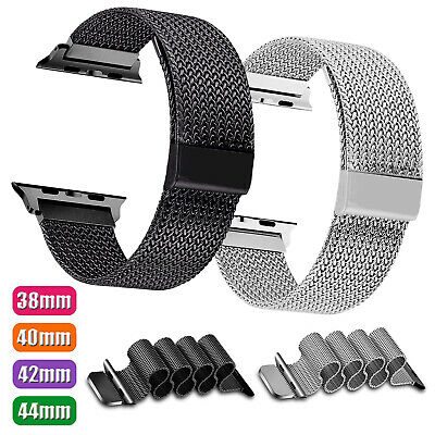 For Apple Watch Series 5 4 40mm 44mm Magnetic Milanese Stainless Steel Loop Band