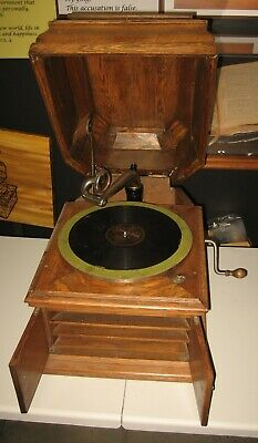 Antique Vintage Victor Victrola Phonograph Type Vi With A Lid Cover Top!
