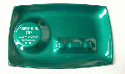 Vintage Conner Hotel cafe metal ashtray Fessenden North Dakota