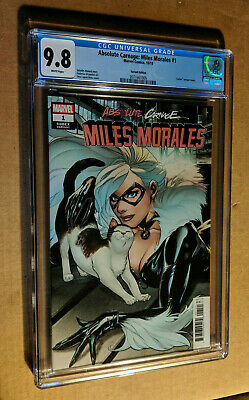 Absolute Carnage Miles Morales #1 1:25 Lupacchino Black Cat Variant CGC 9.8