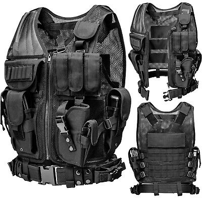 Tactical Vest Military Adjustable Breathable Molle Police Combat Assault Carrier