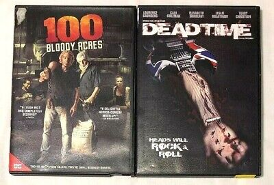 100 BLOODY ACRES 2013 and Dead Time 2012 DVD Horror Movie Lot FREE SHIPPING