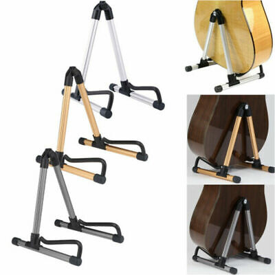 Folding Electric Acoustic Bass Guitar Stand A Frame Floor Rack Aluminum Holder
