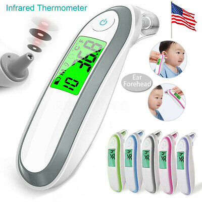 2in1 Digital Thermometer Forehead Ear Infrared Baby Child Adult Memory Function