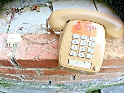 Vintage retro Telecom touchfone  telephone with rare push button dial