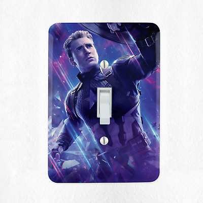 Captain America Light Switch Cover Plate Duplex Outlet Marvel Comics Hero New