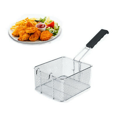 Stainless Steel Frying Basket Oil Screen Food Chip Pan Fryer Strainer Cook Tool