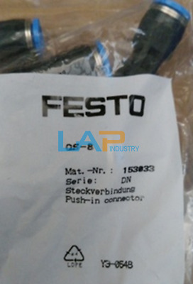 QTY:10 New For FESTO  Push-in Connector 153033 QS-8 #HD