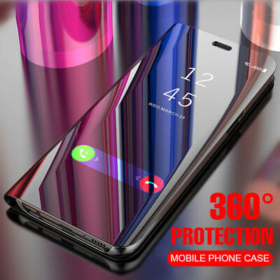 For Samsung Galaxy A20 A30 A50 A70 Smart Mirror Clear View Flip Stand Case Cover
