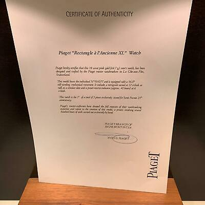 Piaget Official International certificate of authenticity (S)