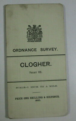 1903 Old OS Ordnance Survey Ireland One-Inch Second Edition Map 82 Clogher