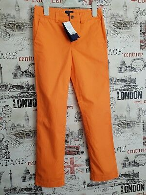 New 100% Authentic Ralph Lauren Boys Orange Chinos Style Trousers Size 10 Years