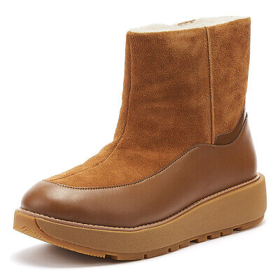 FitFlop Elin Womens Tan Suede Boots Ladies Warm Winter Shoes