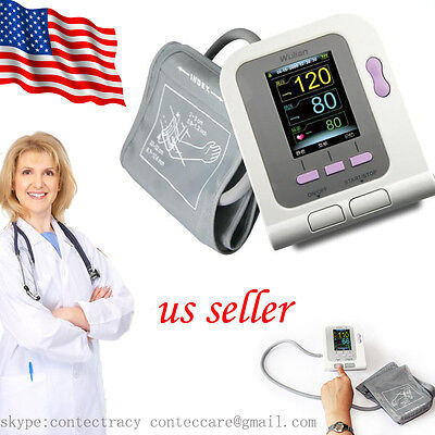 Auto Digital Arm Blood Pressure Monitor Heart Beat Meter Sphygmomanometer,SW,USA