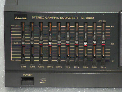 Vintage Hi-Fi Separate Sansui 10 Band Graphic Equaliser With Spectrum Analyser