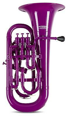 MardiBrass Bb Euphonium 4 Valve Wind Instrument Mouthpiece & Hardcase Purple