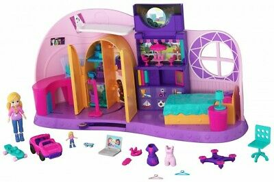 Polly Pocket - Go Tiny Room Playset & Micro Polly Doll and Surprises