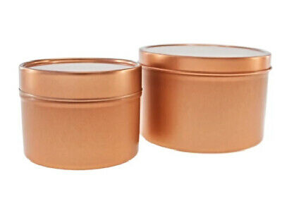 Rose Gold Seamless Tin - candles, sweeties - solid lid