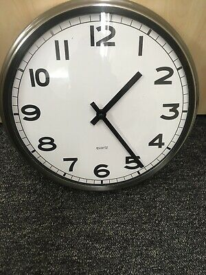Ikea Quartz Wall Clock Battery included Good working order White chrome silver