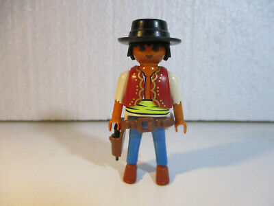 PLAYMOBIL Western 3 chevelures noires pour squaw indienne